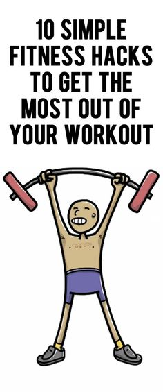 Ten life hacks to use during your next work out or weight lifting training session! #fitnesshacks #workout #exercise #fitness #health #lifehacks