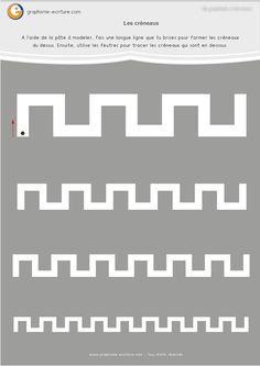 PDF Fiche de Graphisme MS Les créneaux : Fiche à plastifier