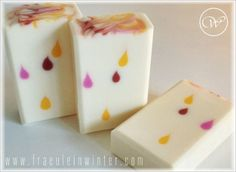"""Colorful droplets"" - handmade soap"