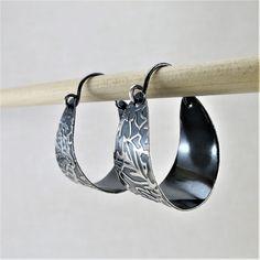 Silver Hoops, Silver Hoop Earrings, Boho Earrings, Earrings Handmade, Sleeper Earrings, 14k Gold Jewelry, Bridesmaid Earrings, Minimalist Earrings, Modern Jewelry
