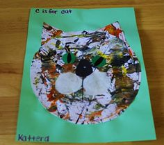 yarn painting.....use for eric carle book, Have You Seen My Cat?