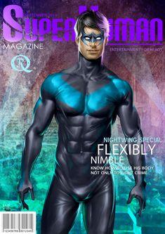 Superhuman Nightwing by elGuaricho on DeviantArt Cover Boy, George Perez, Gay Comics, Cartoon Man, Marvel, Sexy Cartoons, Detective Comics, Gay Art, Nightwing