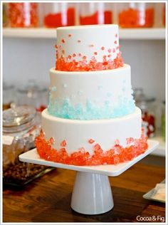 Even I could put rock candy on a cake and call it awesome