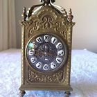 ✰❃ #Antique French Brass Clock, 19th #Century, #Devil Centre Skull Numerals Gothic http://ebay.to/2dY0iId