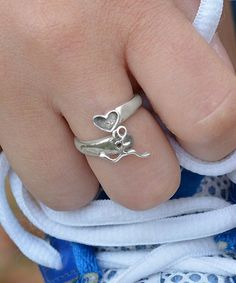 Sterling Silver Run Girl Ring - I have a few friends who would love this for Christmas!