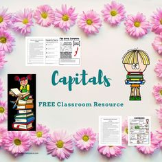 When should I use a capital letter? Printables and worksheets for grades Capital letter rules and capital letter worksheets. These free worksheets will teach your students when to use capital letters. Teaching ideas are also included. 2nd Grade Worksheets, Letter Worksheets, Free Worksheets, Printable Letters, Capital Letters Worksheet, Use Of Capital Letters, Flip Book Template, Student Learning, Task Cards