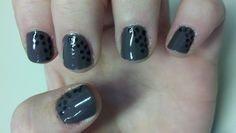 Love the grey with black dots, I used black nail polish but I just saw a post to use sharpies instead (might be easier) Thanks Emily for the idea!