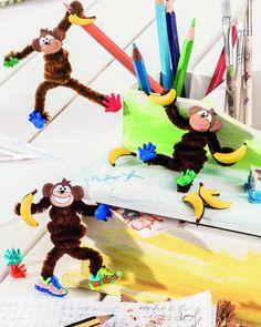 Lustiger Affenzirkus mit Motivknöpfen - creadoo.com