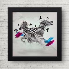 Ilustracion Digital Cebras, Cuadro, Decoracion, Lamina, Caballo, Cebras, Impresiones de GraphicHomeDesign en Etsy https://www.etsy.com/es/listing/239902835/ilustracion-digital-cebras-cuadro