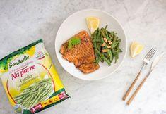Pieczony łosoś z orzechową fasolką szparagową - Warzywne Inspiracje : Warzywne Inspiracje Chili, Grains, Rice, Beef, Meat, Chile, Chilis, Seeds, Laughter