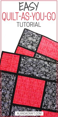 Reversible Quilt As You Go Quilt With Sashing Easy quilt pattern Suitable for confident beginner Stepby step tutorial Written and video instructions Quilting For Beginners, Sewing Projects For Beginners, Quilting Tips, Quilting Tutorials, Machine Quilting, Quilting Projects, Quilting Designs, Sewing Tutorials, Beginner Quilting