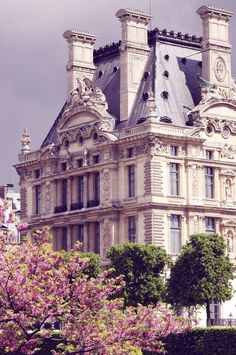 French architecture in Paris. Louvre Palace seen from Tuileries Garden. (I'm missing Spring time in Paris! Paris France, Paris 3, Paris Louvre, Montmartre Paris, Paris Cafe, I Love Paris, Paris Travel, France Travel, Oh The Places You'll Go