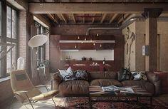 Mieszkanie w industrialnym stylu - 47 m2