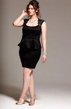Xscape Lace Detail Peplum Dress (Plus Size) Curvy Girl Fashion, Plus Size Fashion, Womens Fashion, Look Plus Size, Plus Size Women, Plus Size Dresses, Plus Size Outfits, Vetement Fashion, Plus Size Kleidung
