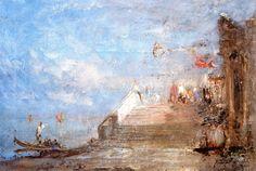 The Athenaeum - Venise, quai de Esclavons (Felix-Francois-Georges-Philbert Ziem - )