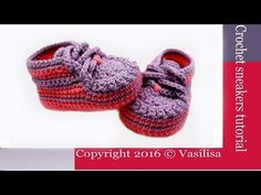 DIY crochet baby sneakers//Vasilisa - YouTube