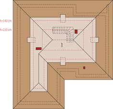 Projekt domu Astrid II G2 (mała) energo 99,44 m² - koszt budowy - EXTRADOM Single Storey House Plans, Double Garage, Japanese House, Design Case, Malaga, House Floor Plans, Ground Floor, Small Bathroom, Living Area