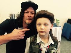 Norman with a fan