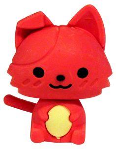 Kawaii Kitten Mini Eraser: Red