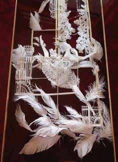 Kamikiri, the amazing Japanese art of paper cutting – Famous & Popular ☆Japan☆ Kirigami, Paper Installation, Cut Out Art, Diy And Crafts, Paper Crafts, Paper Weaving, Art Original, Jewish Art, Art For Art Sake