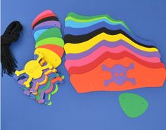 30 Mixed Colour Card Pirate Hats & Patches Kit   the littlecraftybugs company