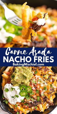 How to make the BEST Carne Asada Fries at home. The perfect appetizer for company or dinner for an evening in. Recipes Using Pork, Beef Recipes For Dinner, Delicious Dinner Recipes, Carne Asada Fries, Slow Cooked Chicken, Tacos And Burritos, Ground Beef Casserole, Incredible Recipes, Slow Cooker Beef