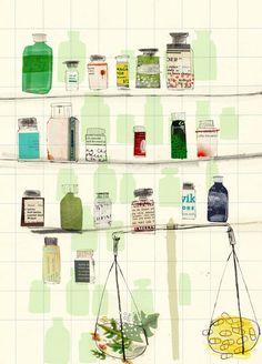 Kate Evans. Click to enlarge illustration: Homeopathy Vs Traditional Medicine