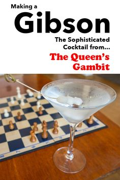 If you watched the The Queen's Gambit, you need to drink a Gibson for the full experience. Learn how to make a the classic cocktail at home in just five minutes. | classic cocktail | gibson cocktail recipe | gibson recipe | gin cocktail | martini | the queens gambit