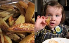 "No-fry French fries, a kid-friendly recipe from Gwyneth Paltrow's cookbook, ""My Father's Daughter"" On Foodlets.com"