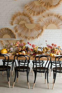 Summer citrus palette from our LA collab Floral design: @layeredvintage | Design: @farramiron | Tabletop Rentals: @hostesshaven | Rentals: @yeahrentals | Installations: @ashleyrenuart | Photography: @aga.maru