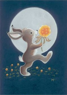 by Kaarina Toivanen Tatty Teddy, Easter Pictures, Cute Pictures, Bunny Book, What Is Cute, Creation Photo, Funny Drawings, Rabbit Art, Good Night Moon