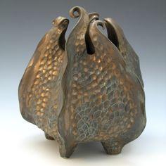 Porcelain urchin vessel by Robert Polfus