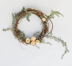 Pussy Willow Wreath Step 4, Wreath Recipe Book