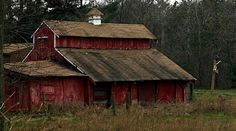 Old Barn with Sunset | Old Barn
