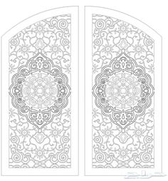 Drawings of iron doors and doors Stencil Templates, Stencil Patterns, Stencil Designs, Lcd Unit Design, Black And White Art Drawing, Cnc Cutting Design, Laser Cut Panels, Arabic Calligraphy Design, Laser Art