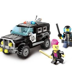 WJ233 City Police Special police car swat Blocks Toys With Policemen Assembled Model Building Kits Blocks Toys for Children Boys