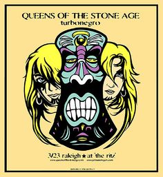 Queens Of The Stone Age - Turbonegro Eagles Of Death Metal, Concert Posters, Music Posters, Power Metal, Tour Posters, Silk Screen Printing, Art Music, Album Covers, Rock And Roll