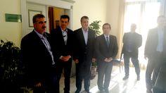 Συνάντηση Απόστολου Τζιτζικώστα με το Δήμαρχο Χίου, κ. Μ. Βουρνού παρουσία των Νότη Μηταράκη και Μανώλη Αγγουλέ