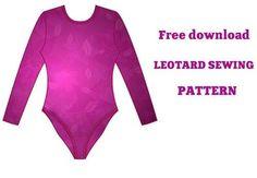 LEOTARD SEWING PATTERN - FREE DOWNLOAD, Muster, um Gymnastik Trikots nähen…