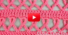 free crochet pattern for pink ribbon scarf Crochet Motifs, Crochet Shawl, Crochet Stitches, Free Crochet, Knit Crochet, Crotchet, Love Knitting, Knitting Patterns, Crochet Patterns