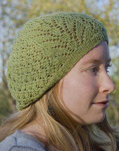 lace knit beret