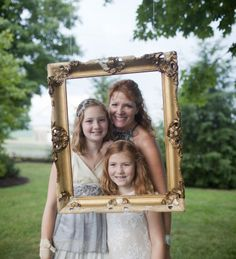 Family Reunion Ideas - hang a frame from a a tree branch (or anywhere) for fun photo ops
