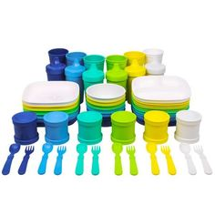 Bold Baby Tableware - Colorful Baby Feeding Spoons | Re-Play