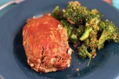 Mini Meatloaves & breaded broccoli - only 385 calories/meal!