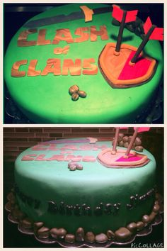 Clash of Clans-themed Cake (Ube Chiffon flavor)