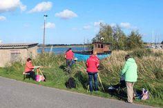 Aquarelle entstehen im Hafen von Gager   Aquarellkurs mit Frank Koebsch in Hafen von Gager (c) Jost Grünheid (3)