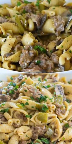 Instant Pot Philly Cheesesteak Pasta has all the delicious flavors and textures of a juicy Philly cheesesteak in this easy and cheesy pasta dish ready in about 30 minutes. pasta bowtie Instant Pot Philly Cheesesteak Pasta [VIDEO] - Sweet and Savory Meals Casserole Recipes, Crockpot Recipes, Cooking Recipes, Healthy Recipes, One Pot Recipes, Stew Meat Recipes, Hamburger Casserole, Hamburger Meat Recipes, Easy Pasta Recipes