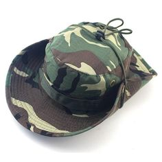 SUMMER BUCKET HATS MILITARY CAMOUFLAGE HAT FOR MEN JUNGLE FISHERMEN HATS WITH WIDE BRIM SUN HAT CAP FOR WOMEN MEN
