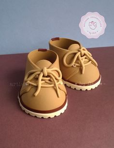 Baby boy booties #cake topper
