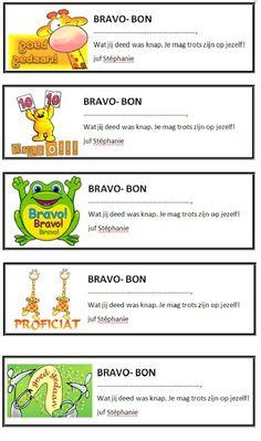 Telkens als een kind iets goed heeft gedaan: de bravo-bon. Voor een positieve sfeer in de klas.